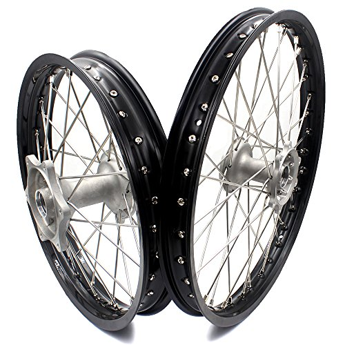 KKE HONDA MX COMPLETE CASTING WHEELS RIMS SET 21/19 CR125R CR250R 96-99 CR500R 96-01 by KKE (Image #1)