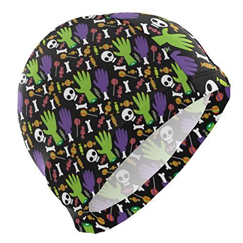 ZSStore Swim Cap Bathing Cap for Men Women Teenagers Unisex Halloween Background Swimming Hat]()