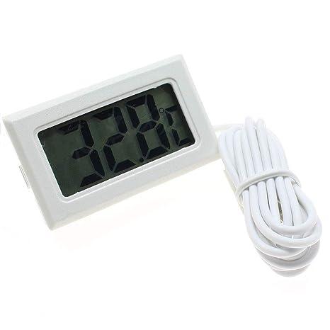 Acuario Termómetro Digital Digital Mini Monitor Conveniente con Sonda Medida Medidor de Temperatura de la Herramienta