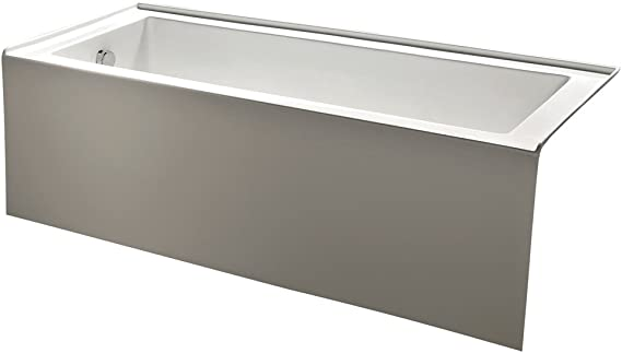 Kingston Brass Vtde603122l 60 Inch Contemporary Alcove Acrylic Bathtub With Left Hand Drain And Overflow Holes White Amazon Com