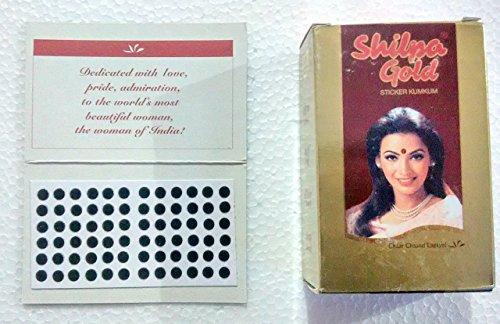 Shilpa Gold Sticker Kumkum Black Bindi  Size Dr 7