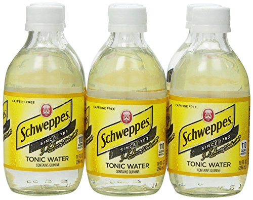 Canada Dry Tonic Water (Schweppes Tonic Water, 6-Pack, 10 oz Bottles)