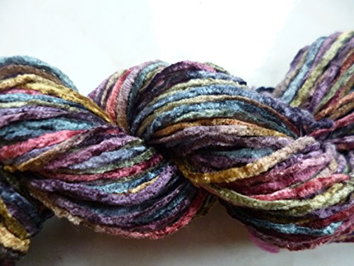 Tivoli Space Dyed Rust  Gold  Mahogany  Purple  Hemlock Green 100  Rayon Chenille Yarn