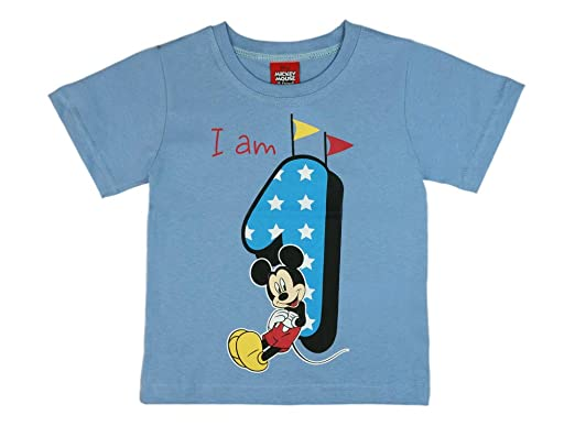 Disney Jungen Baby Kinder 1 Erster Geburtstag Kurzarm T Shirt Jahre Baumwolle Birthday