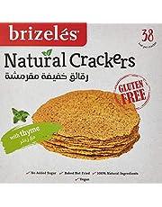 Brizeles Thyme Gluten-Free, Gourmet Savoury Cracker, 120g - Pack of 1