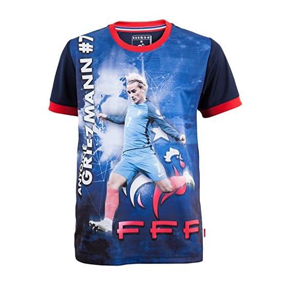 Equipe de FRANCE de football Maillot FFF - Antoine Griezmann - Collection Officielle Taille Enfant