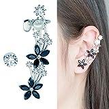 CIShop Meteor Clover Diamond Stud Earring Ear Cuff Ear Wrap Earrings