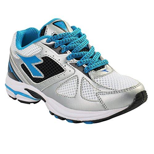 Diadora - Zapatillas para deportes de exterior para niño multicolor Multi Argento/Blu