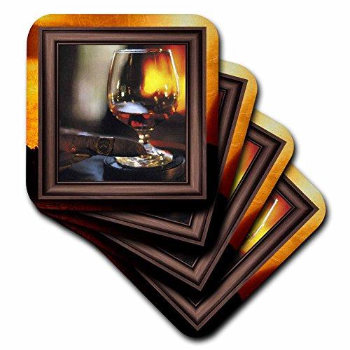 3dRose cst 21248 3 Ceramic Coasters Cognac