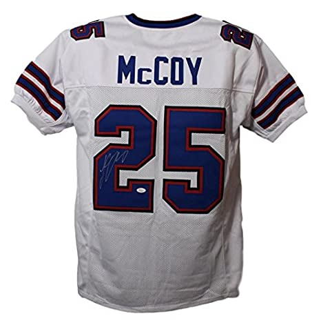 official photos ddda0 147f4 LeSean McCoy Autographed/Signed Buffalo Bills XL White ...