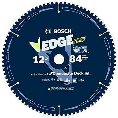 "Bosch DCB1284CD 12"" 84 Tooth Edge Circular Saw Blade for Composite Decking"