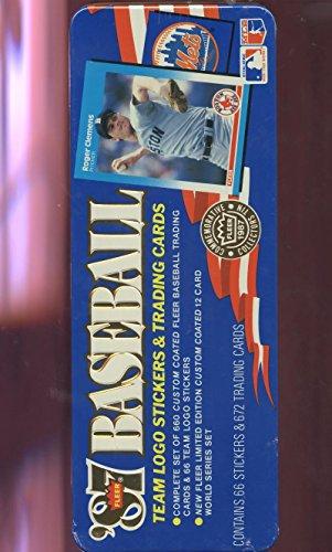 1987 Fleer Baseball Glossy Complete Set Barry Bonds Rookie Card Tin Box Tiffany 1987 Donruss Baseball Wax