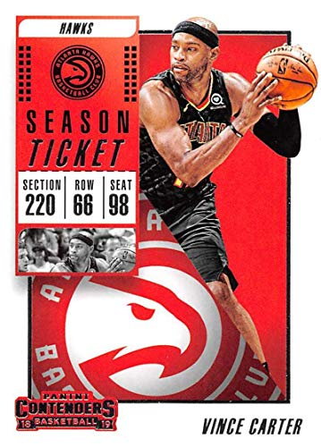 Hawks Tickets - 2018-19 Panini Contenders Season Ticket #22 Vince Carter Atlanta Hawks Basketball Card