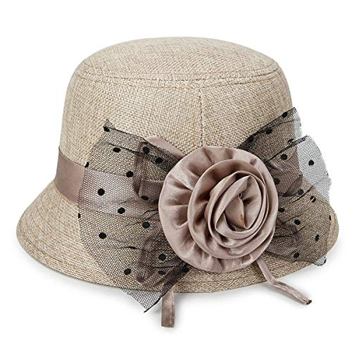 IL Caldo Women's Straw Summer hat Shading Ventilation Sun hat Fascinators (One Size
