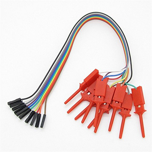 SenMod A Set 10pcs Red Logic Analyser Useful High Efficiency Clip Ideal images