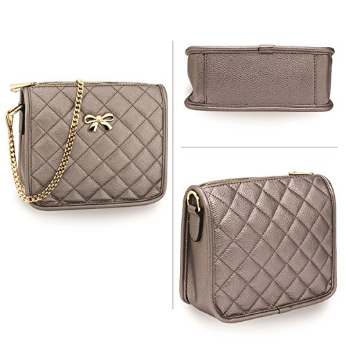Women's Quilted Cross Bags Body Handbags Bag 056 Quality LeahWard Shoulder Grey ORqwSw