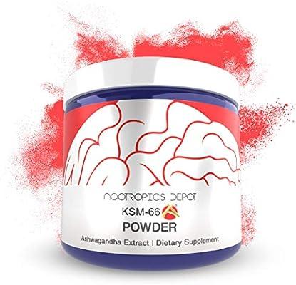 KSM-66 Ashwagandha Powder   60 Grams   Withania somnifera Extract    Ayurvedic Herb   Adaptogen Supplement   Supports Stress + Promote  Relaxation  