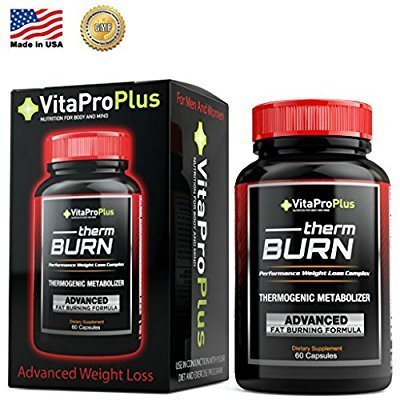 THERM BURN Men and Women's Thermogenic Metabolizer Weight Loss Formula. Garcinia Cambogia, Green Tea Leaf, Acai Fruit Extract, Kelp Powder (30)
