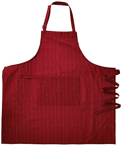 Kay Dee Designs Pin Striped Oversize Apron, Claret