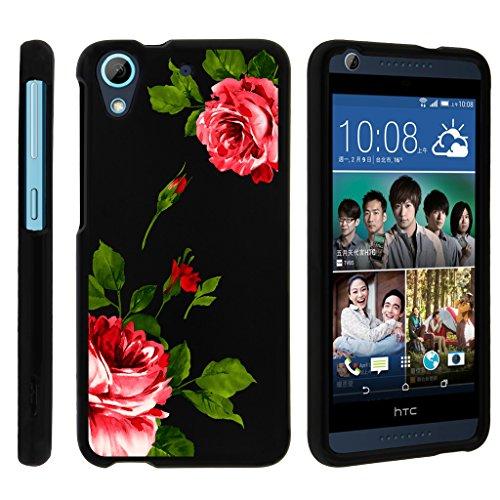 (MINITURTLE Case Compatible w/ Miniturtle Desire 626 Case, HTC 626s Hard Case, Desire 650 Slim Cover] [Snap Shell] 2 Piece Hard Plastic Case Affectionate Flowers)