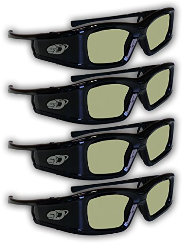 51n3nmJlxzL - SAMSUNG 4 PACK Compatible eDimensional RECHARGEABLE 3D Glasses for 2011-15 Bluetooth 3D TV's