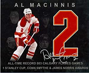 Al MacInnis autographed 8x10 Photo (Calgary Flames - Special Edition jersey number picture)