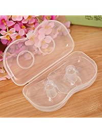 HuaYang 2pcs/lot Shell Soft Silicone Nipple Shield Protector Baby Breast Milk Feeding
