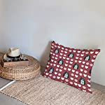 Style In Print Personalized Pillow Case Ariegeois Dog Red Paw Heart Polyester Pillow Cover 20INx28IN Design Only Set of 2 12
