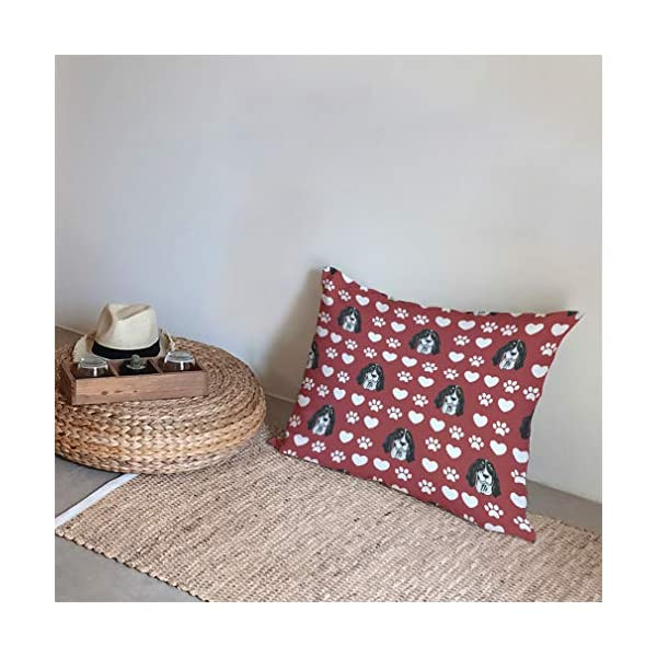 Style In Print Personalized Pillow Case Ariegeois Dog Red Paw Heart Polyester Pillow Cover 20INx28IN Design Only Set of 2 5