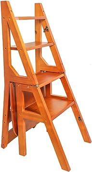 Xi Man Shop Silla de Paso Escalera de Escalera en Madera Plegable portátil Escalera Silla clásica Escalera Minimalista Estable taburetes Altos bastidores de Flores estantes de Escritorio: Amazon.es: Bricolaje y herramientas