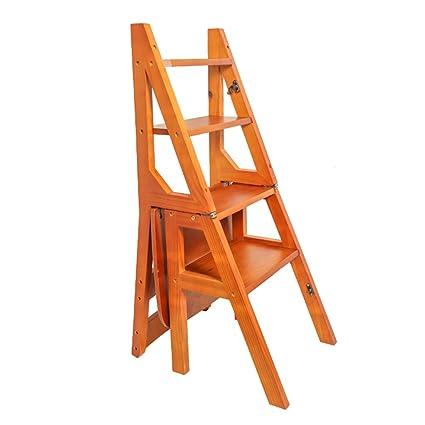 Silla de paso Escalera de escalera en madera Plegable ...