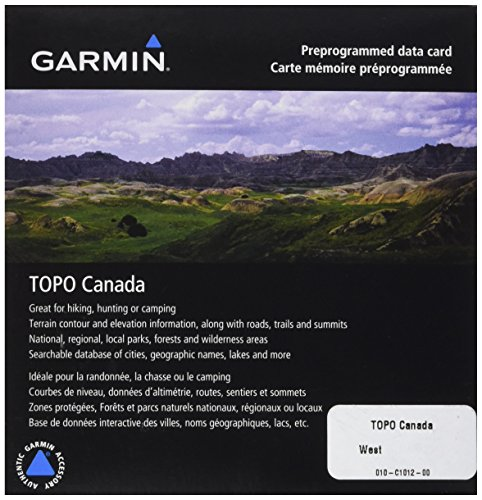 Garmin TOPO! West Canada Map microSD Card (Maps Gps Lake)