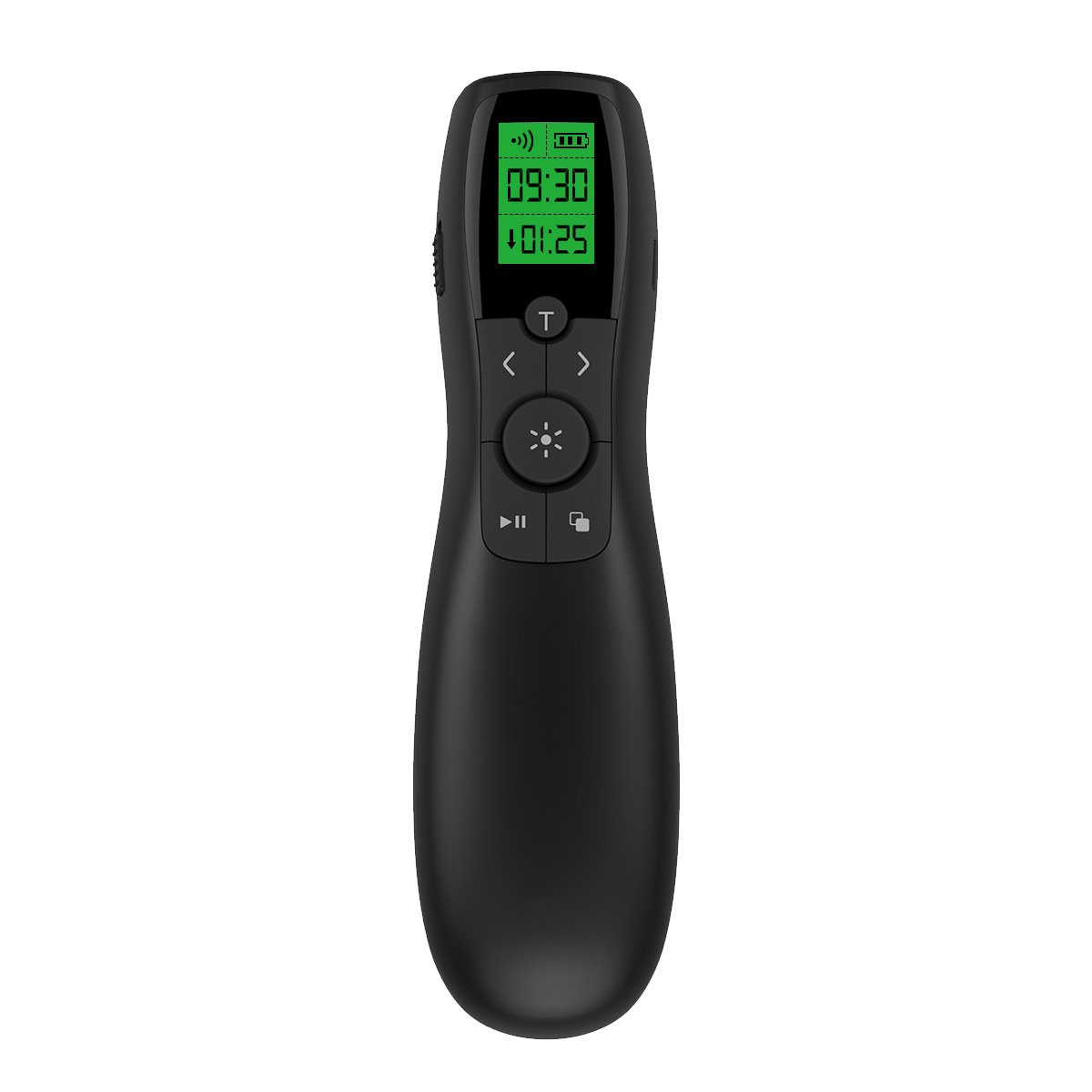 Presentation Remote Rechargeable Wireless Presenter LCD Display, 2.4GHz Wireless USB Powerpoint Clicker Remote Control