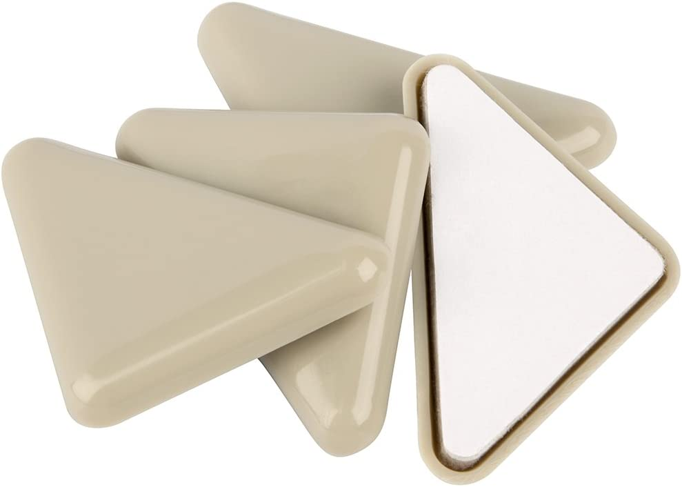 "SuperSliders Self-Stick Furniture Sliders for Carpeted Surfaces (4 piece) - 2"" Tan - Triangle SuperSliders"