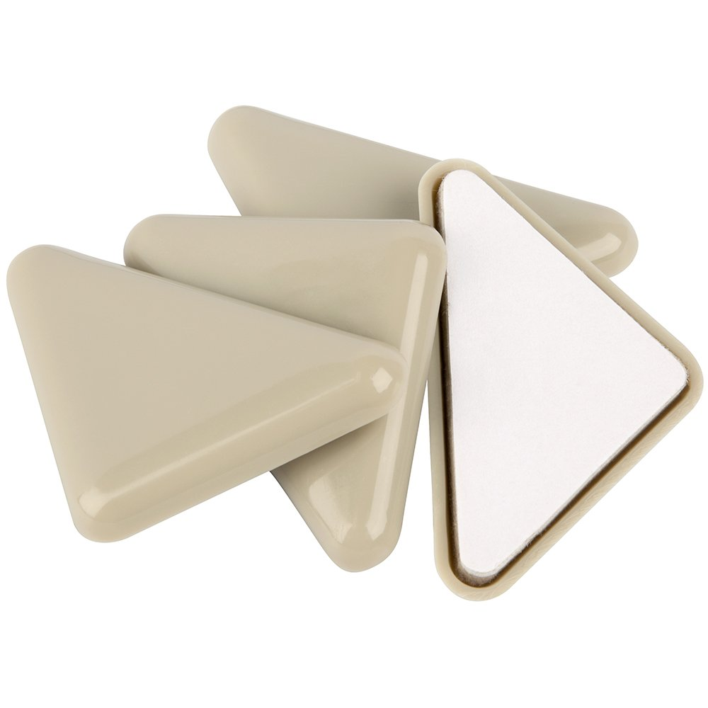SuperSliders Self-Stick Furniture Sliders for Carpeted Surfaces (4 piece) - 2 Tan - Triangle SuperSliders Waxman 4700695N