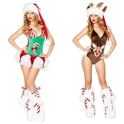 ANRevelinCN Halloween sexy Reindeer costume clubbing fancy ball 1040-41