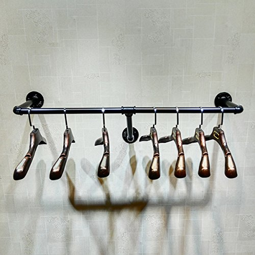 Warm Van Industrial Pipe Floating Wall Clothes Rack Clothing Store Display Shelf Closet Organization Retail Display Stand(One Pipe Shelves,47