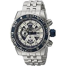GV2 by Gevril Polpo Mens Chronograph Swiss Quartz Stainless Steel Bracelet Watch, (Model: 1400B)