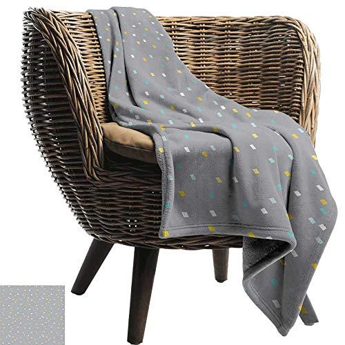Nap Blanket Geometric Cute Little Squares Pale Background Vintage Inspirations Ornate Retro Throw Blanket Adult Blanket 70