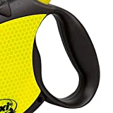 Flexi Neon Retractable Dog Leash (Cord) 16 ft, Medium, Black/Neon