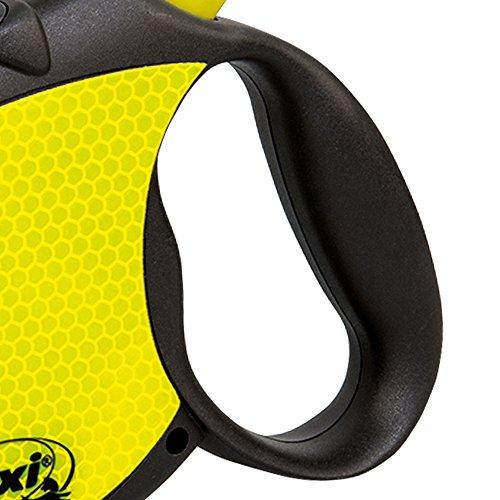 Flexi-Neon-Retractable-Dog-Leash-Tape-16-ft-Large-BlackNeon