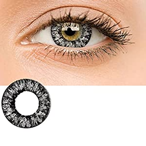 Zouvo Women Materials Multicolor Cute Charm and Attractive Contact Lenses (Black)
