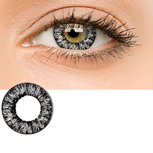 Zouvo Women Materials Multicolor Cute Charm and Attractive Contact Lenses (Black)