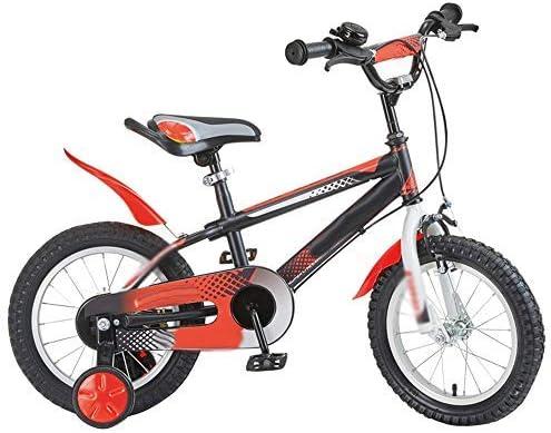 YSA キッズバイク14インチ&16インチキッズ自転車、3〜8歳の少年少女自転車マウンテンバイク、トレーニングホイール付き