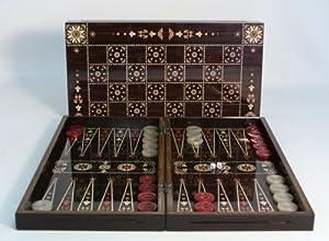 Floral Decoupage Backgammon/Chess Set