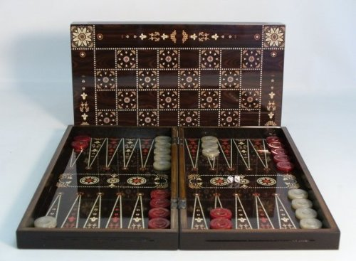 Floral Decoupage Backgammon/Chess Set by World Wise Imports