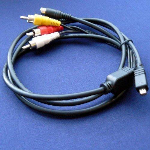 2in1 USB AV A//V TV Cable//Cord//Compatible with Panasonic Lumix DMC-FX36 DMC-FS15 DMC-FP3