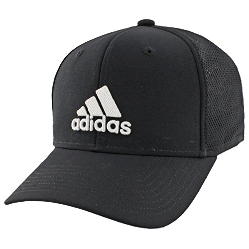 adidas Men's Adizero Scrimmage Stretch Fit Cap, Black/White, Large/X-Large