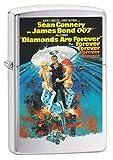 Zippo Lighter: James Bond 007 Diamonds Are Forever - Brushed Chrome 79350