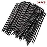 FX Garden Staples U Shaped Steel Pins Ground Stakes Pegs Spikes for Securing Lawn Farm Sod Weed Barrier Landscape Grass Fabric Netting, Many More Applications